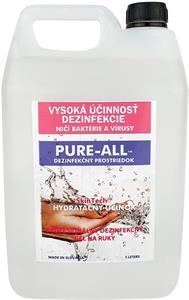 PURE-ALL dezinfekčný gél na ruky, 5L balenie