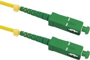 Qoltec optický kábel pre internet SC/APC-SC/APC Singlemode | 9/125, pre Orange a Magio, 1m