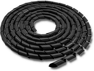Qoltec Organizátor káblov 10mm | 10m | čierna