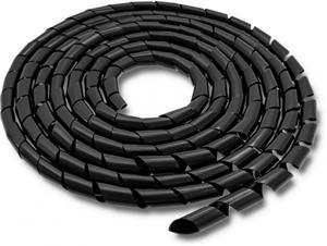 Qoltec Organizátor káblov 12mm | 10m | čierna