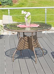 Ratanový stôl G21 Royal Big Merbau