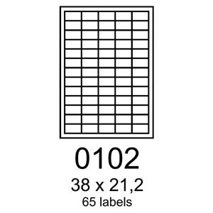 RAYFILM 38x21,2, univerzálne biele eco R0ECO0102A