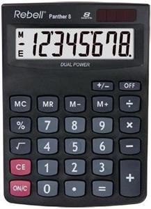 Rebell Panther 8 kalkulačka stolná, čierna