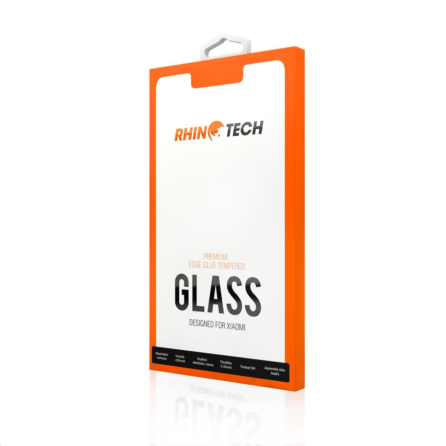 RhinoTech 2 tvrdené ochranné 2.5D sklo pre Xiaomi Redmi Note 9 Pro (Full Glue)