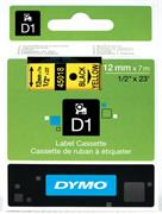 Samolepiaca páska Dymo D1 12 mm žltá/čierna