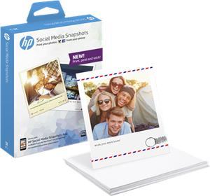Samolepiaci fotopapier HP Social Media Snapshots - 25 listov 10x13 cm