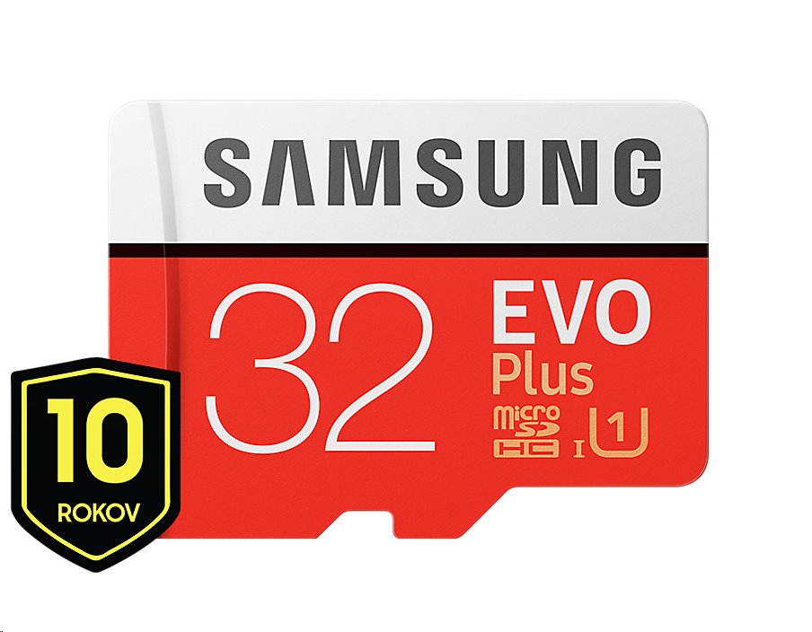 Samsung EVO Plus microSDHC 32 GB + SD adaptér