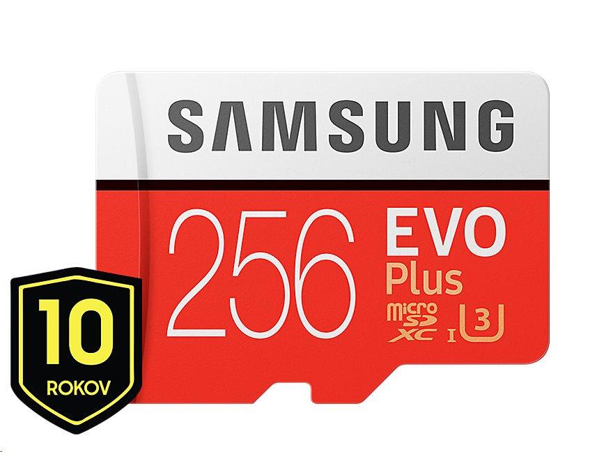 Samsung EVO Plus microSDXC 256GB + adaptér