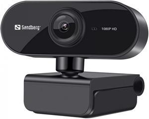 Sandberg Flex 1080P HD, webkamera, čierna