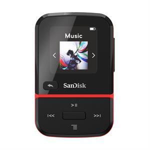 SanDisk Clip Sport Go 16 GB, MP3, červený