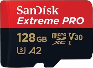 SanDisk Extreme Pro microSDXC 128GB UHS-I + adaptér