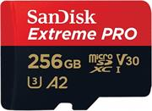 SanDisk Extreme Pro microSDXC 256GB 170MB/s + adaptér