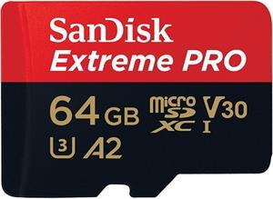 SanDisk Extreme Pro microSDXC 64GB 170MB/s + adaptér