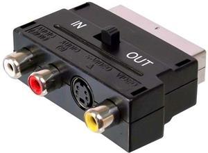 SCART-Cinch+SVHS redukcia M/F+F, adaptér
