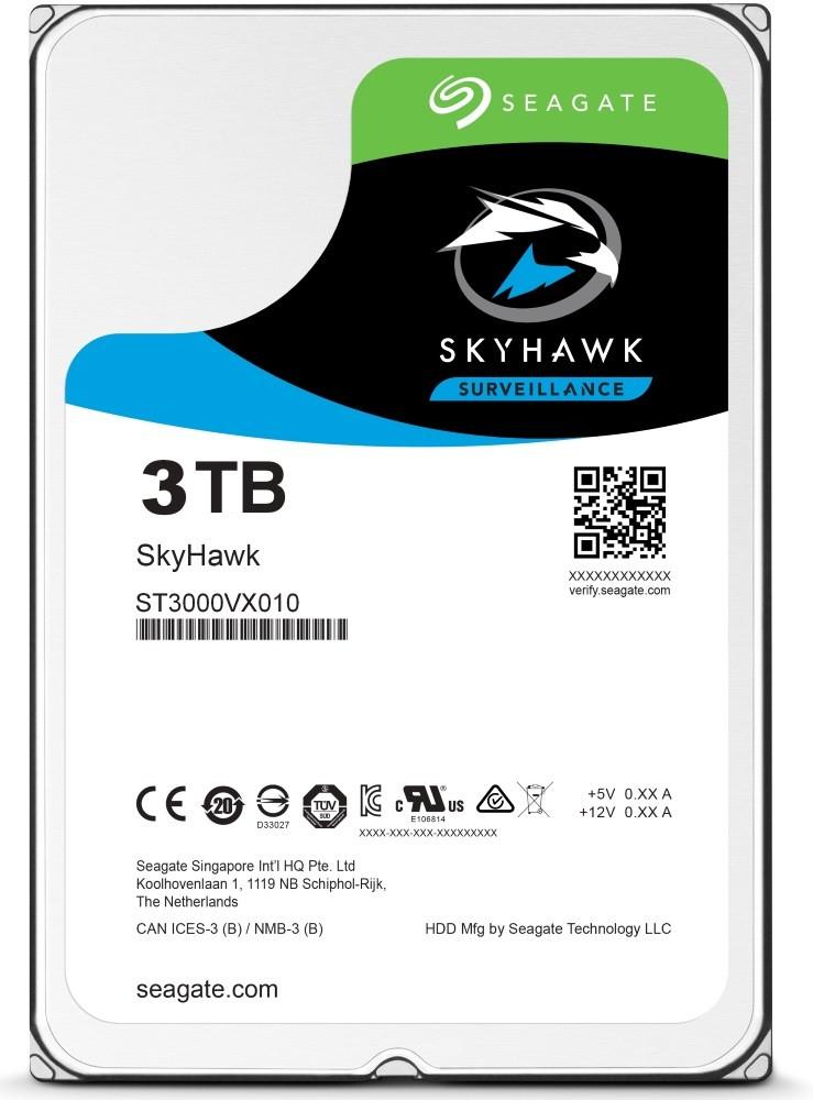 Seagate SkyHawk HDD 3TB, 5400RPM, 256MB cache
