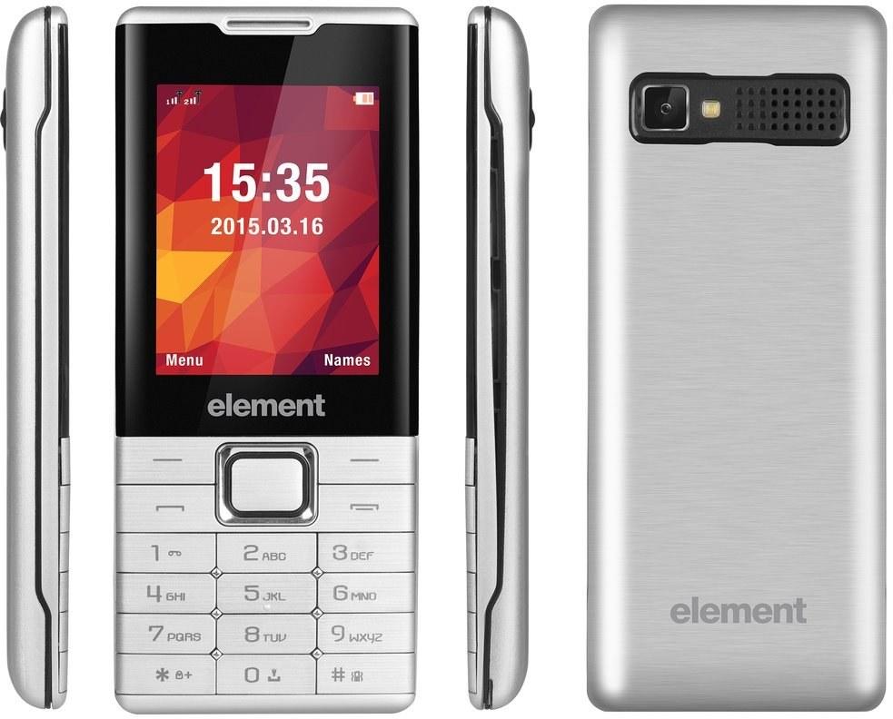 Sencor ELEMENT P020 SILVER, mobilný telefón