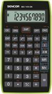 Sencor SEC 105 GN kalkulačka vedecká, čierno-zelená