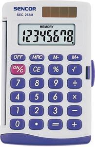 Sencor SEC 263/8 kalkulačka vrecková, biela