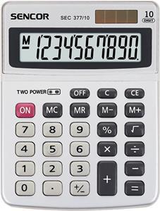 Sencor SEC 377/10 kalkulačka stolná, biela