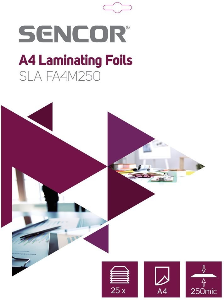 SENCOR SLA FA4M250, A4 Laminovacia fólia
