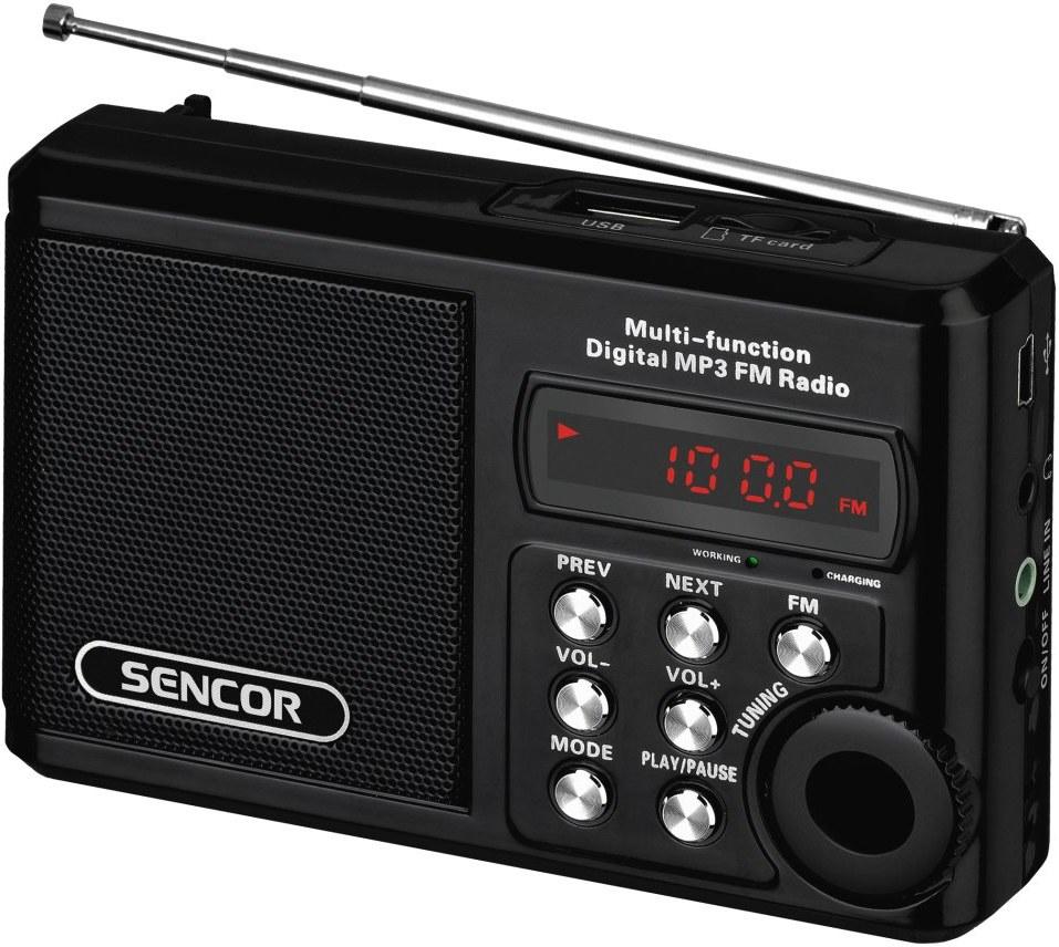 Sencor SRD 215 B, rádio s USB/MP3