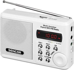 Sencor SRD 215 W, rádio s USB/MP3