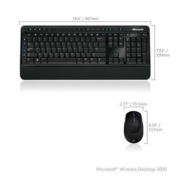 Set Microsoft Optical Comfort Desktop 3000 BTrack CZ