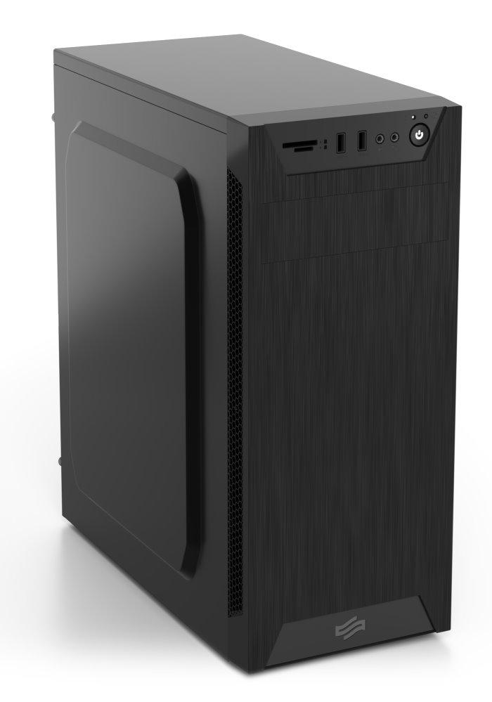 SilentiumPC Armis AR1 Pure Black, s čítačkou SD a microSD kariet, čierna