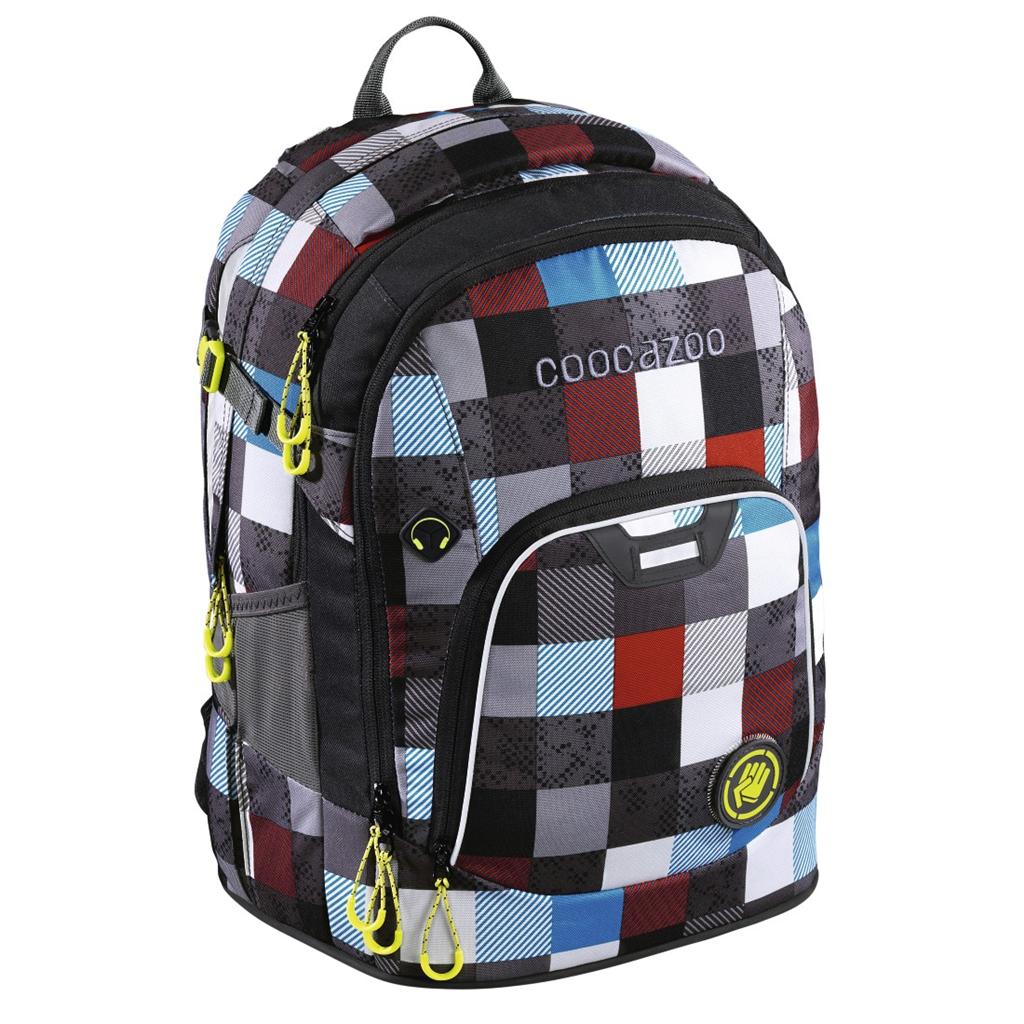 Školský ruksak Coocazoo Rayday, Checkmate Blue Red