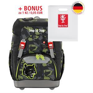 Školský ruksak Step by Step GRADE Čierny panter+ BONUS Dosky na zošity za 0,05 EUR
