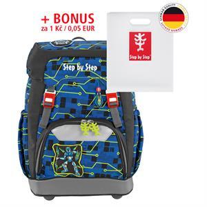 Školský ruksak Step by Step GRADE Robot+ BONUS Dosky na zošity za 0,05 EUR