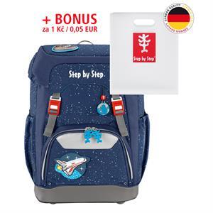 Školský ruksak Step by Step GRADE vesmírna raketa + BONUS Dosky na zošity za 0,05 EUR