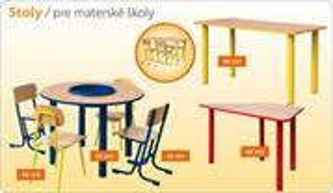 Školský stôl pre MŠ