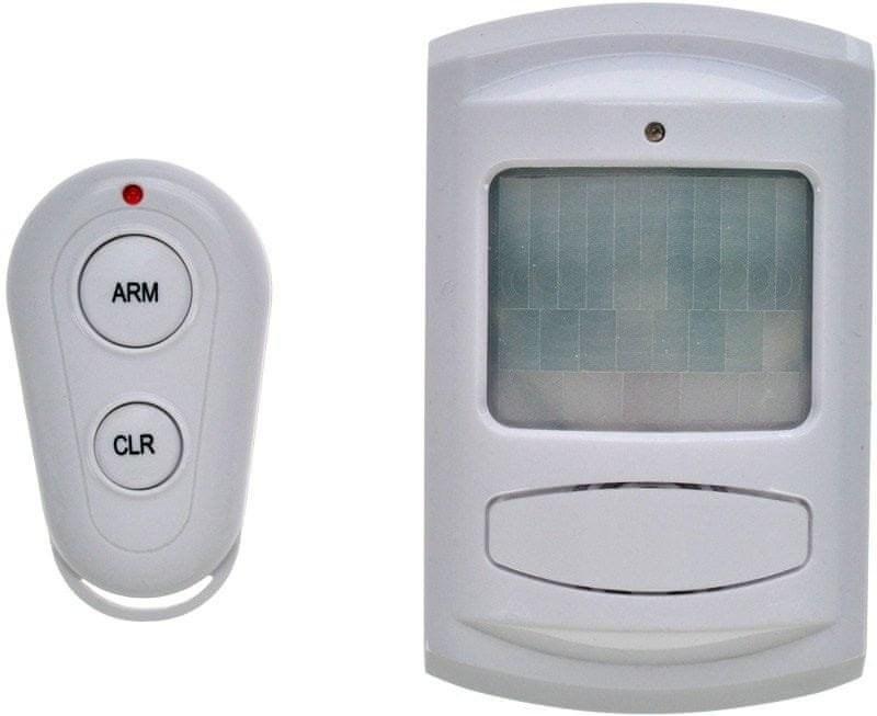 Solight 1D11, GSM Alarm, pohybový senzor, diaľk. ovl., biely