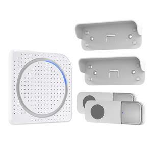 Solight bezdrôtový zvonček, 2 tlačidlá, do zásuvky, 200m, biely, learning code