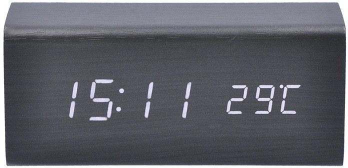 Solight hodiny s budíkom, čierne