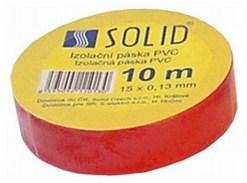 Solight izolačná páska, 15mm x 0,13 mm x 10m, červená