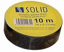 Solight izolačná páska, 19mm x 0,13 mm x 10m, čierna