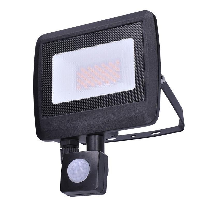 Solight LED reflektor Easy so senzorom, 30W, 2400lm, 4000K, IP44, čierny