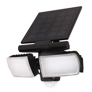 Solight LED solárne svetlo so senzorom, 8W, 600lm, Li-on, čierna