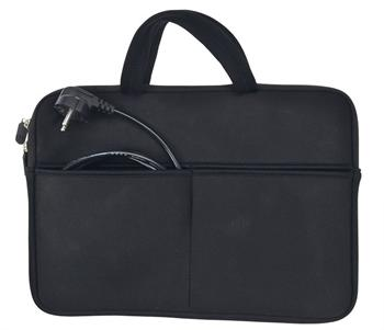 Solight neoprénové puzdro na notebook 13''-14'', 2 tašky, držadlá, čierna