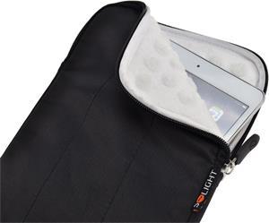 Solight nylónové puzdro na tablet, čítačku do 8'', širokouhlé, nárazuvzdorné polstrovanie, čierna