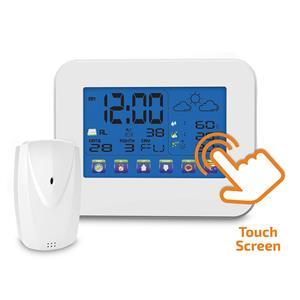 Solight TE84, meteostanica, veľký dotykový farebný LCD, vnútorná/venkovná teplota, vlhkosť, RCC, biela