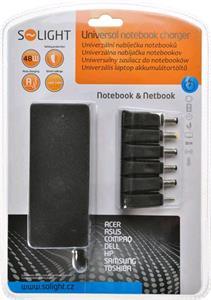 Solight univerzálny zdroj pre netbooky a notebooky, 48W, 6 koncoviek, automatický