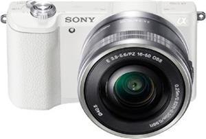 SONY ILCE-5100 Fotoaparát Alfa 5100 s bajonetem E + 16-50mm objektiv - White