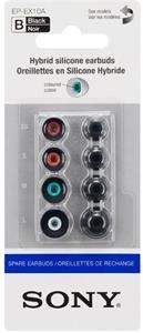 Sony náhradne silikónové štuple pre slúchadlá, 4 veľkosti, čierne