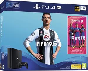 Sony PlayStation 4 Pro 1TB + FIFA 19, čierna