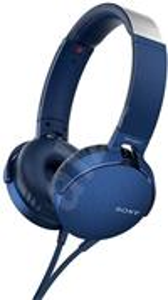 SONY XB550AP, slúchadlá, modré
