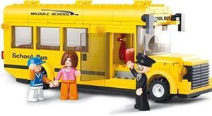 Stavebnice SLUBAN Školní autobus, 218 dílů (M38-B0507)