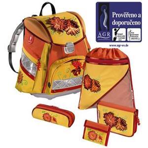 Step By Step, školský ruksak Kvety s LED osvetlením, 5-dielny set